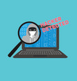 hacker detected theme vector image vector image