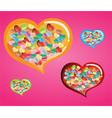 Heart Confetti with in Big colurful heart vector image vector image