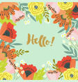 hello template for cards and banners with cute vector image vector image