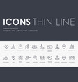 human resources thin line icons vector image