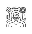 immunity related thin line icon vector image