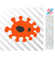 infection flat icon with bonus vector image
