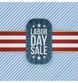 Labor Day Sale patriotic Emblem vector image vector image