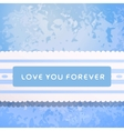 Lace with declaration in eternal love vector image