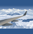 landscape with mountains view from airplane vector image