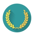 laurel wreath flat icon vector image vector image
