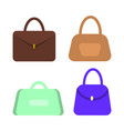 leather women handbags with handles set vector image