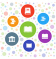 library icons vector image vector image