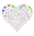 lock fireworks heart vector image vector image
