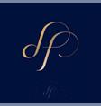 logo df monogram gold luxury monogram jewelry vector image vector image