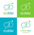 Logo eco bike vector image