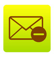 mail sign brown icon at vector image vector image