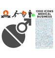 male erection tablet icon with 1300 medical vector image vector image