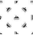 man on jet ski rides pattern seamless black vector image vector image