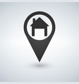 map pointer with house icon vector image vector image