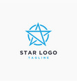 minimalist star logo icon on white background vector image vector image