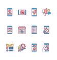 mobile application rgb color icons set