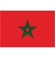 moroccan flag vector image vector image