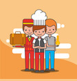 people hotel service vector image vector image
