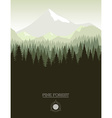 Pine forest vector image