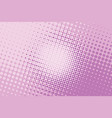 pink halftone pop art background vector image