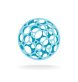 Plastic sphere with different size holes vector image vector image