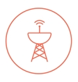 Radar satellite dish line icon vector image vector image
