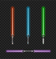 realistic 3d detailed color jedi knights set vector image vector image