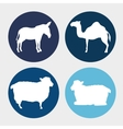 set animal manger design vector image vector image