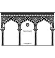 silhouette of the arched eastern facade vector image vector image