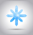 snowflake weather icons vector image vector image