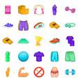 sport school icons set cartoon style vector image vector image