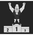 Sportsman standing on podium Chalk clip art vector image vector image