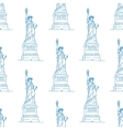 statue liberty seamless pattern vector image