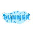 summer design blue lettering vector image