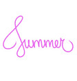 summer hand drawn typography lettering text pink vector image vector image