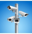 Surveillance camera pillar vector image vector image