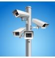 Surveillance camera pillar vector image vector image