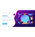 technological revolution concept landing page vector image