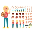 Teenager female person character creation set vector image vector image