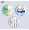 Three colorful glossy badges with text vector image vector image