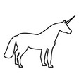 unicorn icon black color flat style simple image vector image