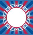 usa flag symbols patriotic background frame vector image