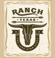 vintage western ranch label graphics vector image vector image