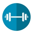 weight barbell trainer player football shadow vector image