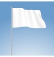 White Blank Flag Isolated vector image vector image