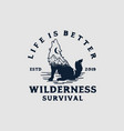 wilderness survival vector image vector image