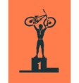 Winner bicycle racer vector image