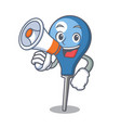 with megaphone clyster character cartoon style vector image vector image