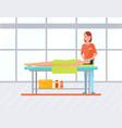 woman gets facial massage in spa salon vector image vector image